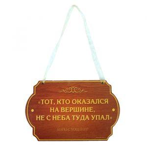 """Табличка на дверь """"Тот, кто оказался на вершине"""", 19 х 12 см 179887"""