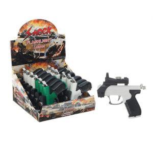 """Прикол шокер """"Пистолет"""" с лазером и фонариком, цвета МИКС 2496536"""