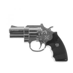"Прикол шокер ""Пистолет"" с фонариком, цвет серебро 3021071"