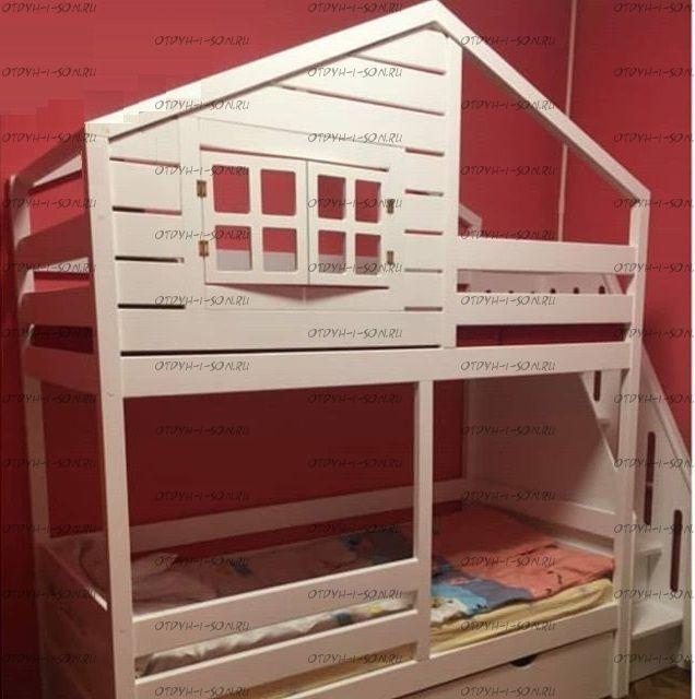 Кровать двухъярусная Домик Roof №28