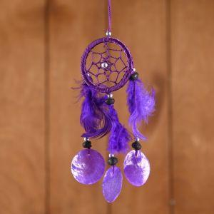 """Ловец снов """"Нежность"""" фиолетовый 6х0,5х20 см   4584195"""