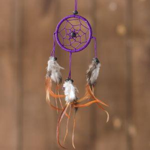 """Ловец снов """"Позитивное мышление"""" фиолетовый 0,5х6х25 см   4165903"""