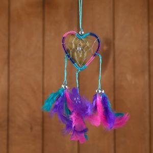 """Ловец снов """"Сердце"""" разноцветный 6х0,5х20 см   4584201"""