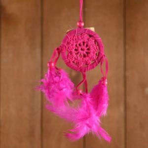 """Ловец снов """"Спокойствие"""" розовый 6х0,5х20 см    4584186"""