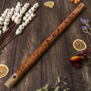 """Музыкальный инструмент бамбук""""Флейта расписная"""" 60x3,5x3,5 см   4165862"""