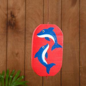 """Сувенир подвесной """"Дельфины"""" дерево 12х13х15 см   4575395"""