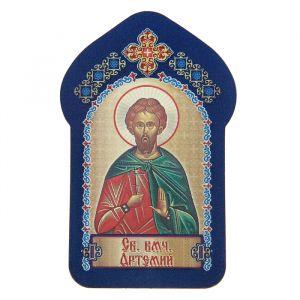 """Икона для ношения с собой """"Святой великомученик Артемий"""""""