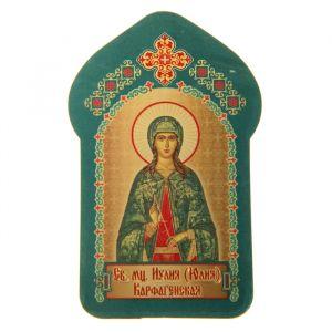 """Икона для ношения с собой """"Святая мученица Иулия (Юлия) Карфагенская"""""""