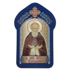 """Икона для ношения с собой """"Святой преподобный Иосиф Волоцкий"""""""