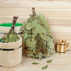 Веник для бани ЭКСТРА из кавказского дуба с пижмой 2691841
