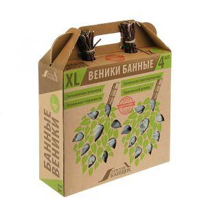 Набор берёзовых веников для бани, в коробке, 4шт.   3340855