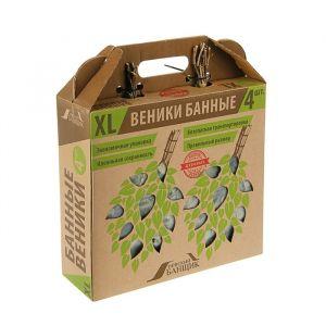Набор дубовых веников, в коробке, 4шт.   3340856