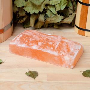 """Кирпич из гималайской соли, натуральный, 20х10х5 см, """"Добропаровъ""""   4274664"""