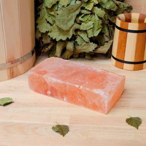 """Кирпич из гималайской соли, шлифованный, 20х10х5 см, """"Добропаровъ""""   4274663"""