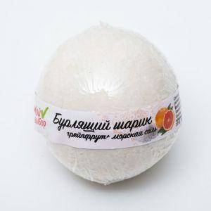 """Бурлящий шар """"Мой выбор"""" на основе Илецкой соли с эфирным маслом грейпфрута и добавлением морской соли, 140 г"""