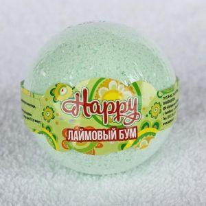 "Бурлящий шар Happy ""Лаймовый бум"", 130 г 3998889"