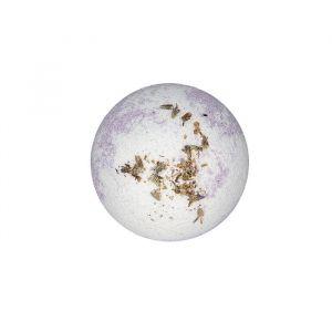 Бурлящий шар для ванн двухцветный с цветками лаванды, 130 г 4194911
