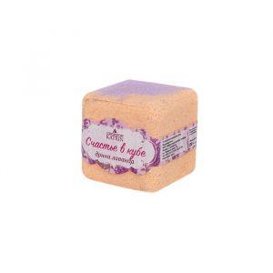 """Шипучая соль для ванн Счастье в кубе """"Донна Лаванда"""", 130 г   4580676"""