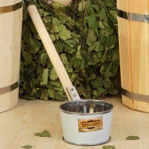 """Ковш из нержавеющей стали, 0,7л, с деревянной ручкой, """"Добропаровъ"""" 1384840"""