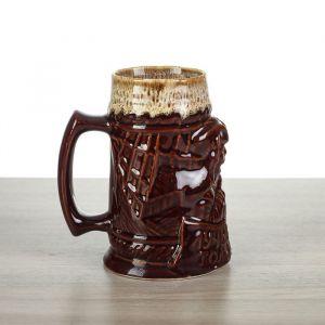"""Пивная кружка """"Лучше моря…"""" коричневая, 0,7 л, микс, керамика"""
