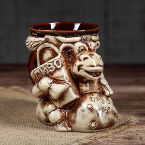"""Кружка для пива """"Корова"""" 0,35 л, керамика"""