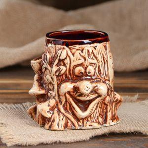 """Кружка для пива """"Пенёк"""" 0,35 л, микс, керамика"""