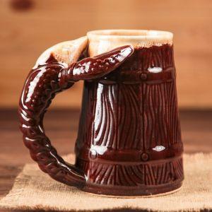 """Кружка Для Пива 0,5 л, """"Рак"""", коричневый"""
