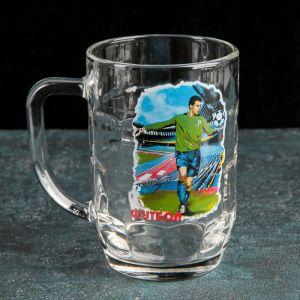 """Кружка для пива 500 мл """"Мировой футбол"""", МИКС"""