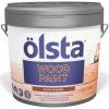 Краска по Дереву Olsta Wood Paint 0.9л с Антисептиком, Полуматовая / Ольста Вуд