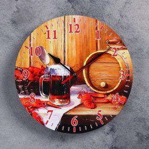 """Часы настенные, серия: Интерьер, для бани """"Банный набор"""" 3823868"""