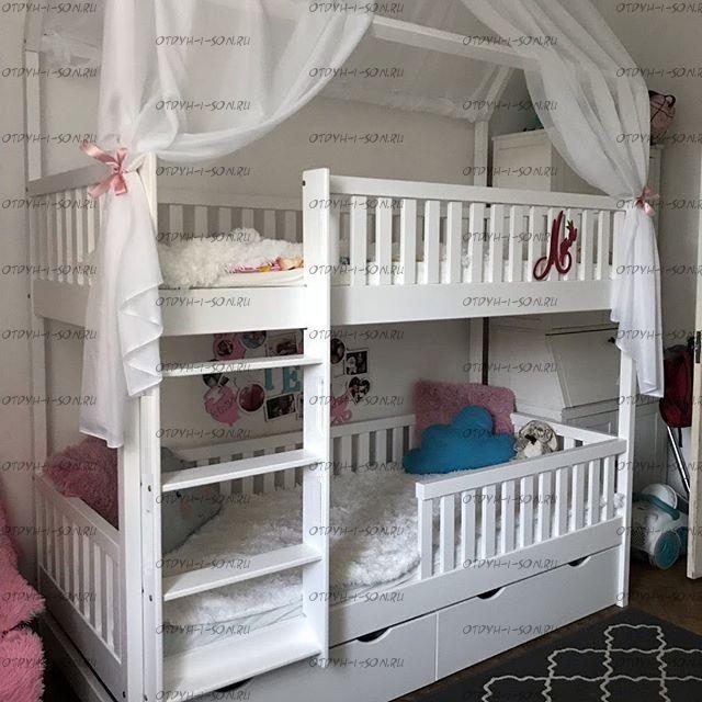 Кровать двухъярусная Домик Standard №15+