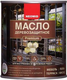 Масло с Натуральным Воском Neomid Premium 2л Деревозащитное, Износостойкое для Внутренних и Наружных Работ / Неомид