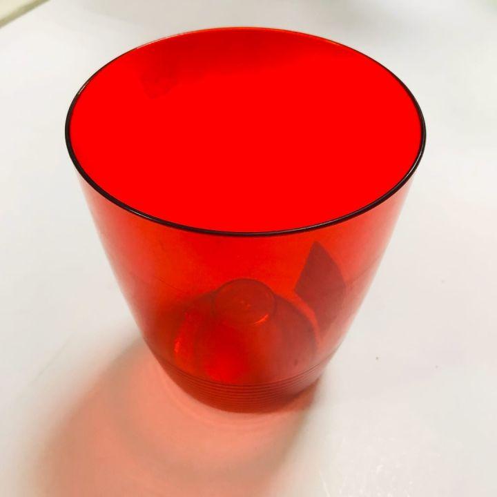 Кашпо д/орхидей Mia 1.2л красный полупрозрачный