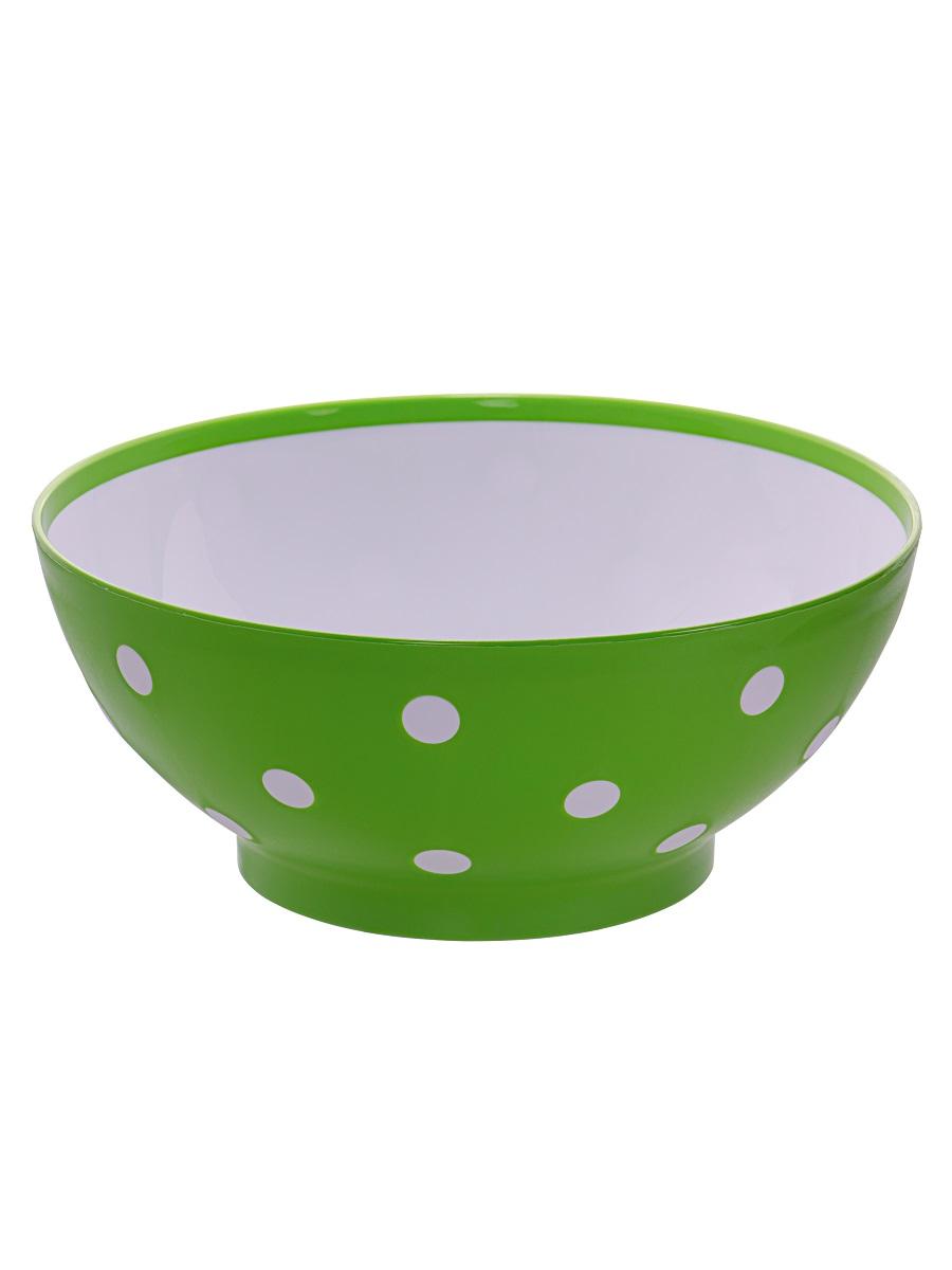 Миска для супа / еды / салата чашка Twist зеленая 3 литра Эльфпласт 27 см