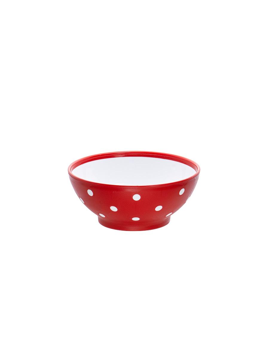Миска для супа / еды / салата чашка Twist красная 0,35 л Эльфпласт 13,2 см