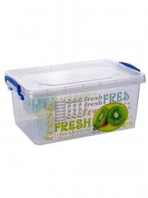Контейнер для хранения Эльфпласт Fresh Box с рисунком 8 литров прозрачный с крышкой 35,5х23,5х15,3 см