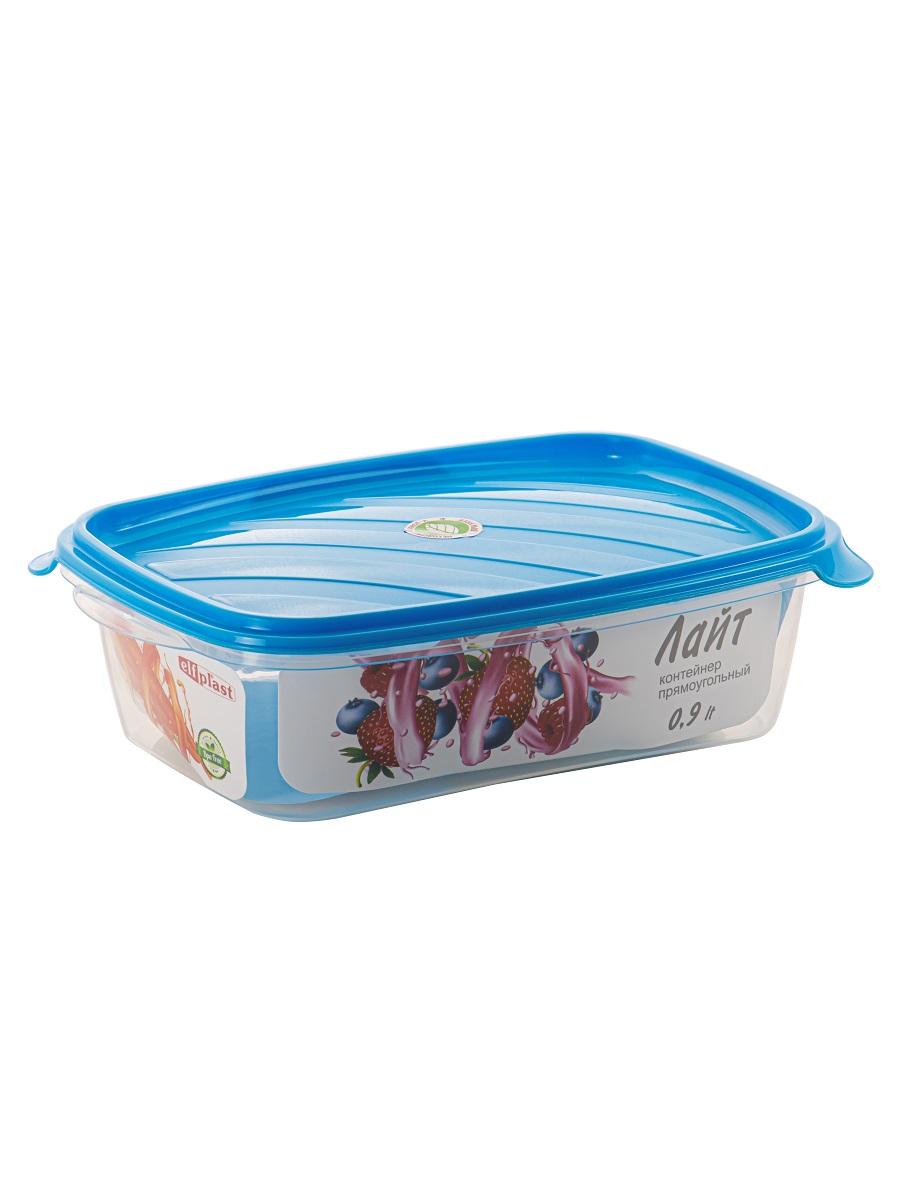 Контейнер пищевой Лайт 0,9 литра прямоугольный Эльфпласт контейнер для хранения еды с крышкой 17,5*16,5*5,7 см