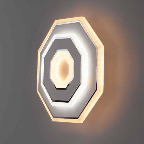 Бра. Настенный светодиодный светильник Eurosvet Contorni 90184/1 белый/хром