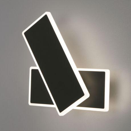 Бра. Настенный светодиодный светильник Eurosvet (Евросвет) Twirl арт. 90316/2 черный