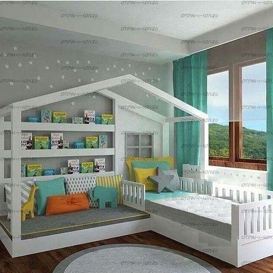 Кровать Домик угловой Fairy Land №7 (для двоих детей)