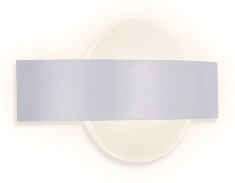 Бра. Настенный светодиодный светильник с выключателем FW201 WH/S белый/песок LED 4200K 9W 220*120*50