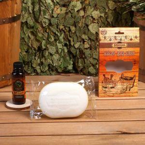 """Подарочный набор """"Добропаровъ"""": мочалка для тела и ароматизатор для бани 4796777"""