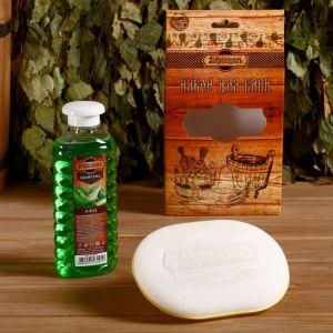 """Подарочный набор """"Добропаровъ"""": шампунь """"Алоэ"""" и мочалка для тела 4691512"""
