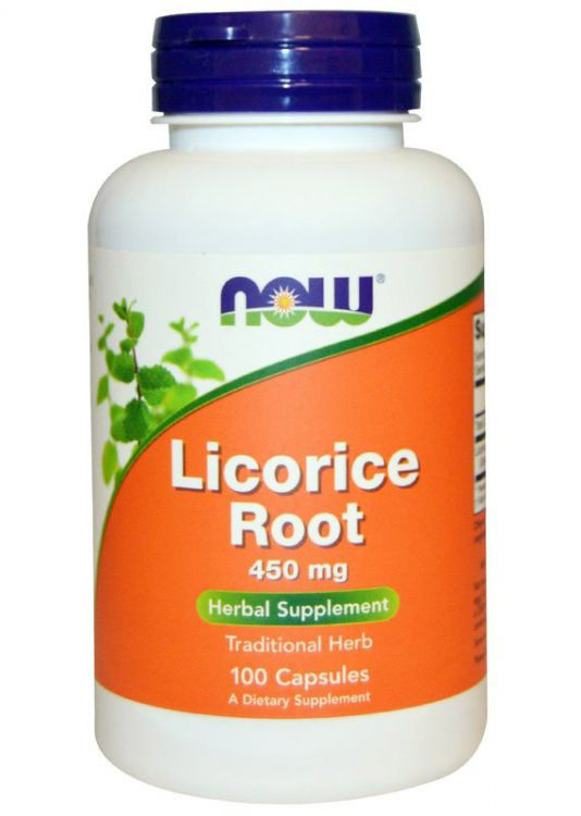 Licorice Root 450 mg от NOW food 100 кап (солодка)