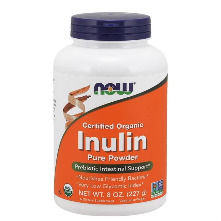 Inulin Pure Powder от Now  227 гр_