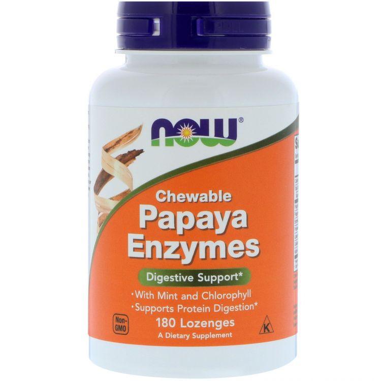 Энзимы папайи от Now Foods 180 таб