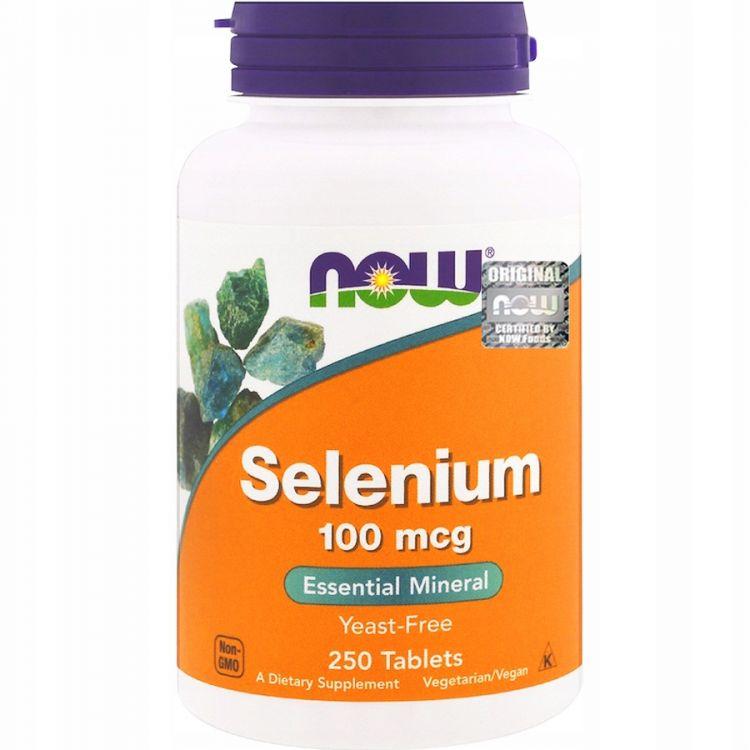 Selenium 100 мкг от NOW 250 таблеток (Селен)