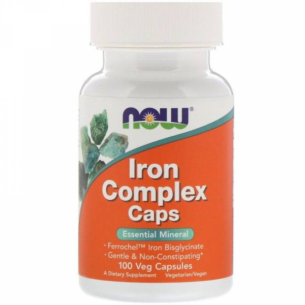 Iron Complex Vegetarian от NOW (100 таб)