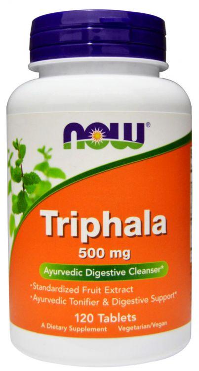 Triphala 500 mg  от NOW (120 таб)_