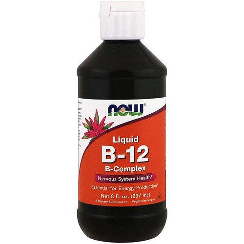 Liquid B-12 B-Complex / Жидкий комплекс витамина B 237 мл от NOW